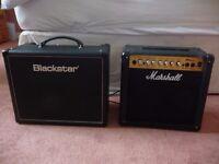 Blackstar HT-5R Combo & Marshall MG15CDR Combo