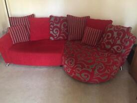 DFS Red patterned suite. Get it in time for Christmas!