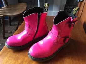 Pink dr martens zip boots size 2