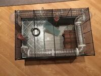 Hamster cage, house, exercise tube etc