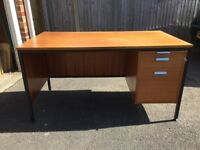 Office Desk with lockable drawers.