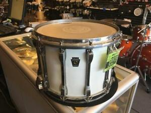 "Ludwig Classic All Maple Marching Snare caisse-claire 14""x10 White Lacquer usagée-used"