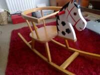 Heilag vintage minature rocking horse childs toy