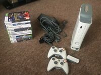 Xbox 360 console with controllers, games & extra storage etc