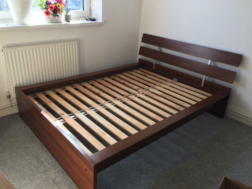 Reserved Wooden Ikea Sultan Lade Double Bed Frame In Greenwich