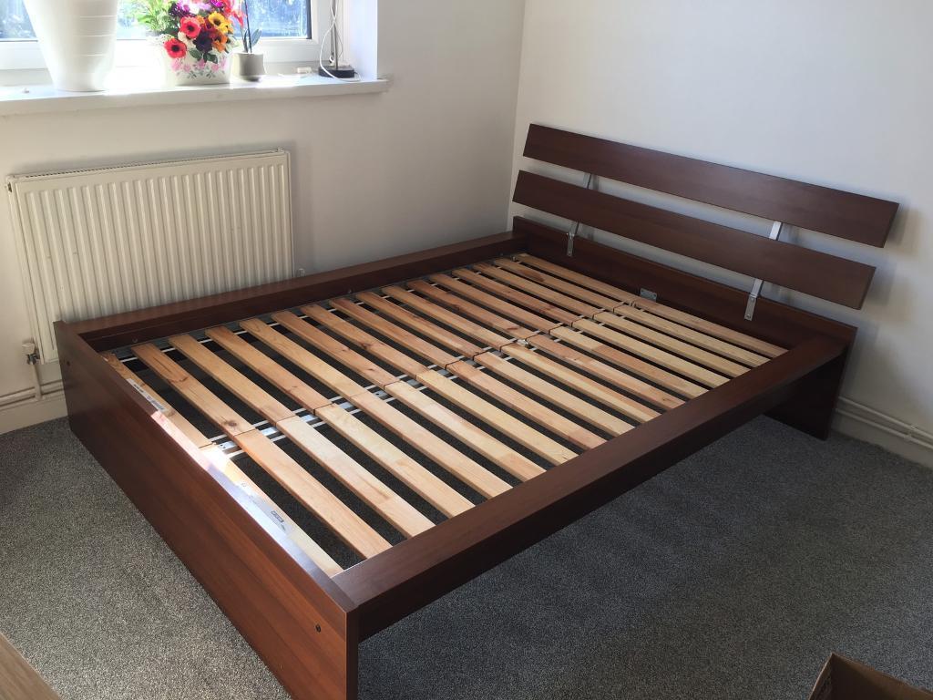 best website 2e279 3348d [Reserved]Wooden IKEA Sultan Lade double bed frame | in Greenwich, London |  Gumtree
