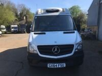 MERCEDES SPRINTER MWB FRIDGE VAN WITH STANDBY.2014/64.NEW SHAPE .1 OWNER