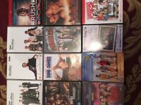 Large collection of DVDs for sale, all in good condition.