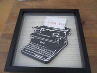 Love letter typewriter picture frame