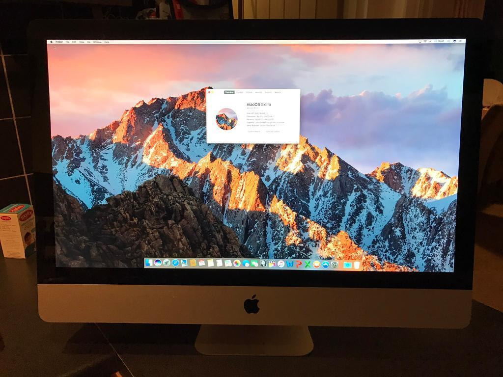 """Apple iMac 27"""" 2011 i7 3.4GHz QuadCore 16GB RAM 2GB HD6970 Graphics Final Cut Logic Pro Xin Biggleswade, BedfordshireGumtree - For Sale is...My 2011 Apple iMac 27"""" i7 3.4GHz This was the highest specification available and cost over £1900! It has also been upgraded with double the original RAM to 16GB (2 x 8gb)!This model has the Quad Core 3.4GHz i7 processor which turbo..."""