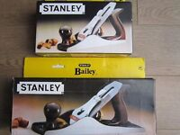 TWO BRAND NEW STANLEY BAILEY WOOD WORKING PLANES N04 -N05