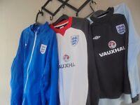 England Football Kit, sweat shirts and jackets