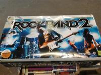 NEW XBox 360 ROCK BAND 2 Spec Ed PS3 Band wireless Drum/2Guitar