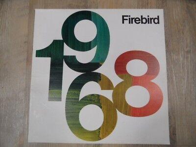 Prospekt brochure General Motors Pontiac Firebird 1968   SR118