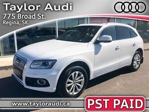 2014 Audi Q5 2.0 Progressiv, PST PAID, PANORAMIC ROOF Regina Regina Area image 1