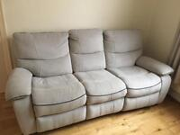 Recliner Sofa - Light Grey