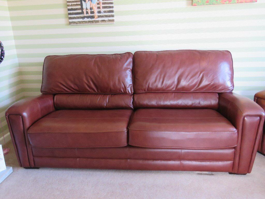 3 seater leather sofa used very little so in excellent condition