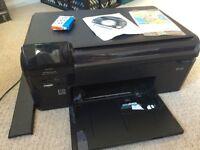 HP Photosmart B110 All-in-One Inkjet Printer WiFi + new ink cartridge (B)