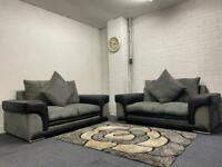 SOLD- Grey & black Harvey's sofas delivery 🚚 sofa suite couch furniture