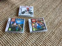 Lego Harry Potter and Mario cart games, Nintendo DS