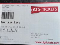 Two Tickets Thriller Live Tonight Regent Theatre Hanley