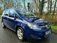 2011 VAUXHALL ZAFIRA 1.6i VVT 16v [115BHP] EXCLUSIV LOVELY LOW MILEAGE EXAMPLE ONLY 58k