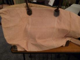 Suede Effect Large Bag