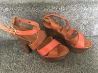 Wooden Platform Shoes/Sandals