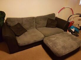 Sofa and matching storage footstool - quick sale needed