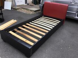 Leather single bed
