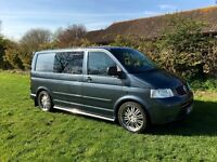 Volkswagen Transporter T5 2.5 TDI 174bhp Day Window Crew Panel Van 5dr