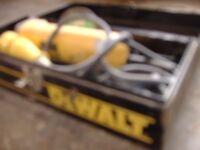 dewalt 110v angle grinder in metal case