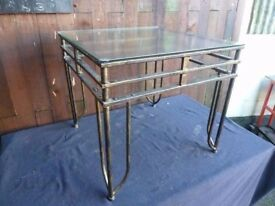 Glass Top Table on Iron Legs Delivery Available £10