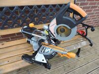 Evolution RAGE 3 sliding mitre saw in good condition