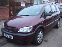 Vauxhall Zafira 1.6 i 16v Club 5dr (a/c) 2003 (52 reg), MPV