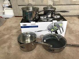 5 piece Stella draining pan set