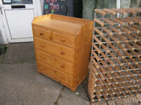 PINE CHANGING TABLE / PINE CHEST OF DRAWERS CHANGING STATION IN YEOVIL