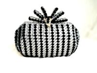 Black and Silver Clutch Bag Customised with Gems!