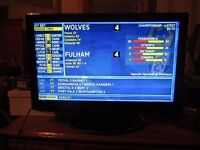 """22-24""""DVD combi tv with stand and remote"""