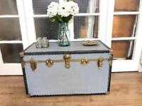 Vintage Trunk coffee table Free delivery Ldn shabby chic storage box