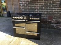 Second hand 'Stoves' range oven with 7 rings and additional hot plate.