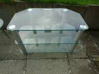 Glass TV cabinet £20