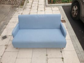 Modern Styled 2 Seater sky blue Sofa ( 140cmx70cmx70cm) excellent condition, solid and comfortable