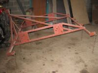Tool Frame for Compact Tractor with Harrow/Rake and Leveller
