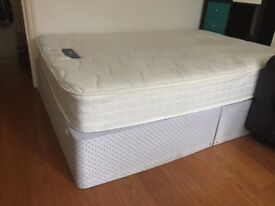 Double bed base and mattress Very Good condition(sell separate)