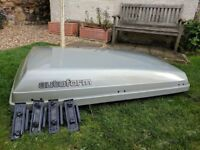 Large Roof Box, (150x95x32cm) including fixings.