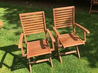 Pair of Folding Wooden Chairs