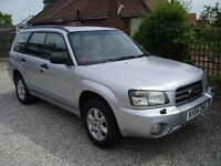 2004/ SUBARU FORESTER X ALL WEATHER 4X4 2.0 PETROL ESTATE IN SILVER