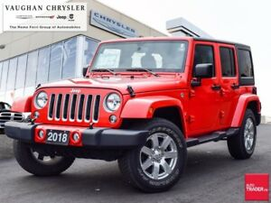 2018 Jeep Wrangler Sahara Unlimited * Only 23410 kms !! * Automa
