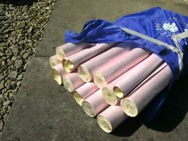 ABOUT 15 ROLLS OF nice PINK WALLPAPER,HOLMES QUALITY WALLPAPER,MODERN LIVING,PATT 189-16,SHADE OB